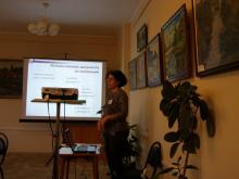 Выступление О.В. Динеевой, зам.директора по обслуживанию читателей ГПИБ России