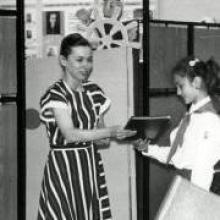 Т.П. Соловьева - заведующая детской библиотекой с1983 - 1992 г.г.